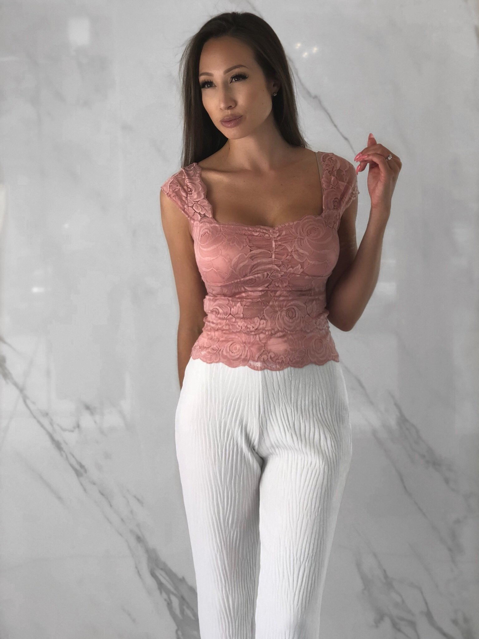 Tyana Top, Women's Pink Tops