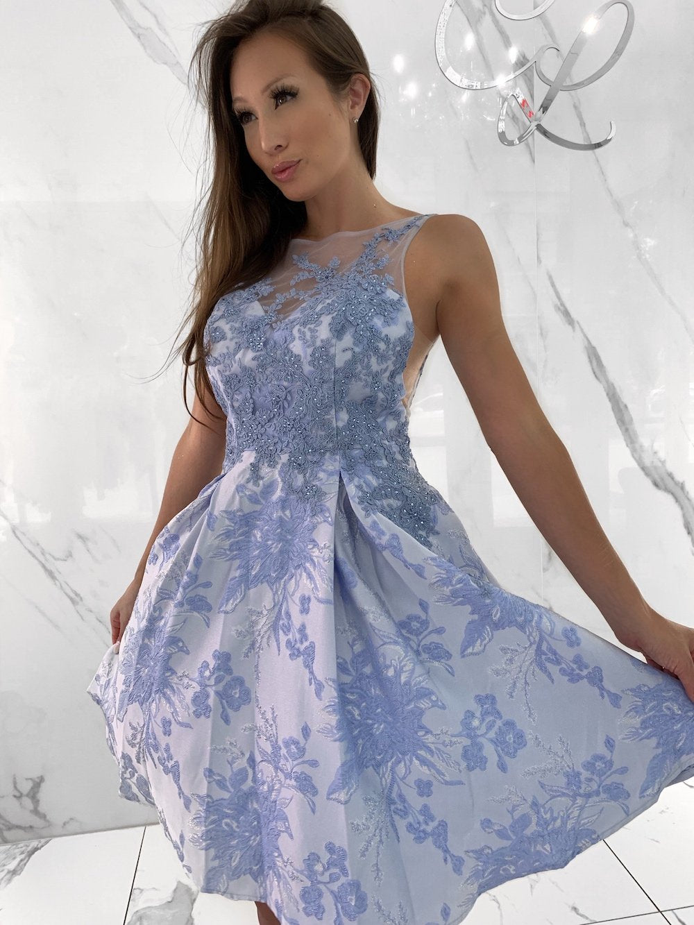 Vienna Dress, Women's Blue Dresses