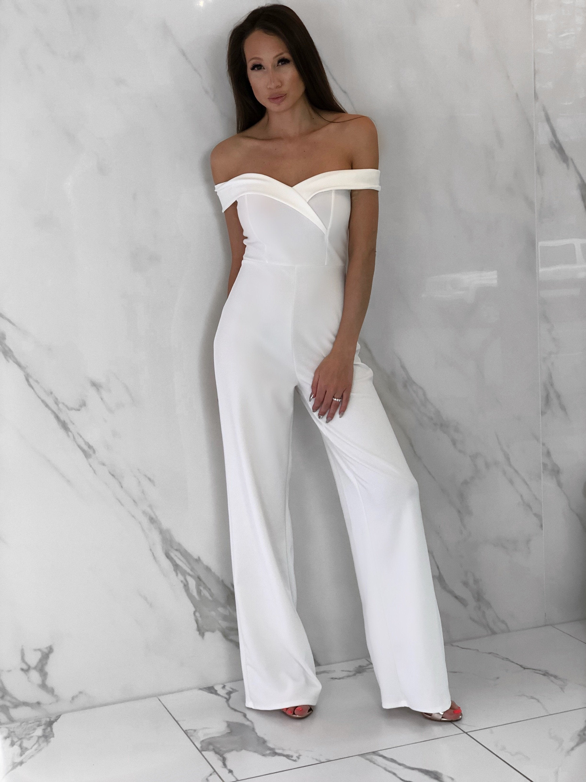 Whitley Jumpsuit, Women's White Jumpsuits