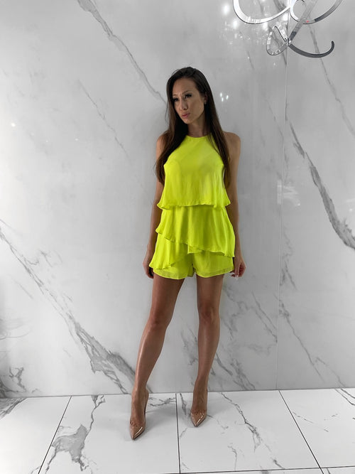 Wylie Jumpsuit, Women's Lime Jumpsuits