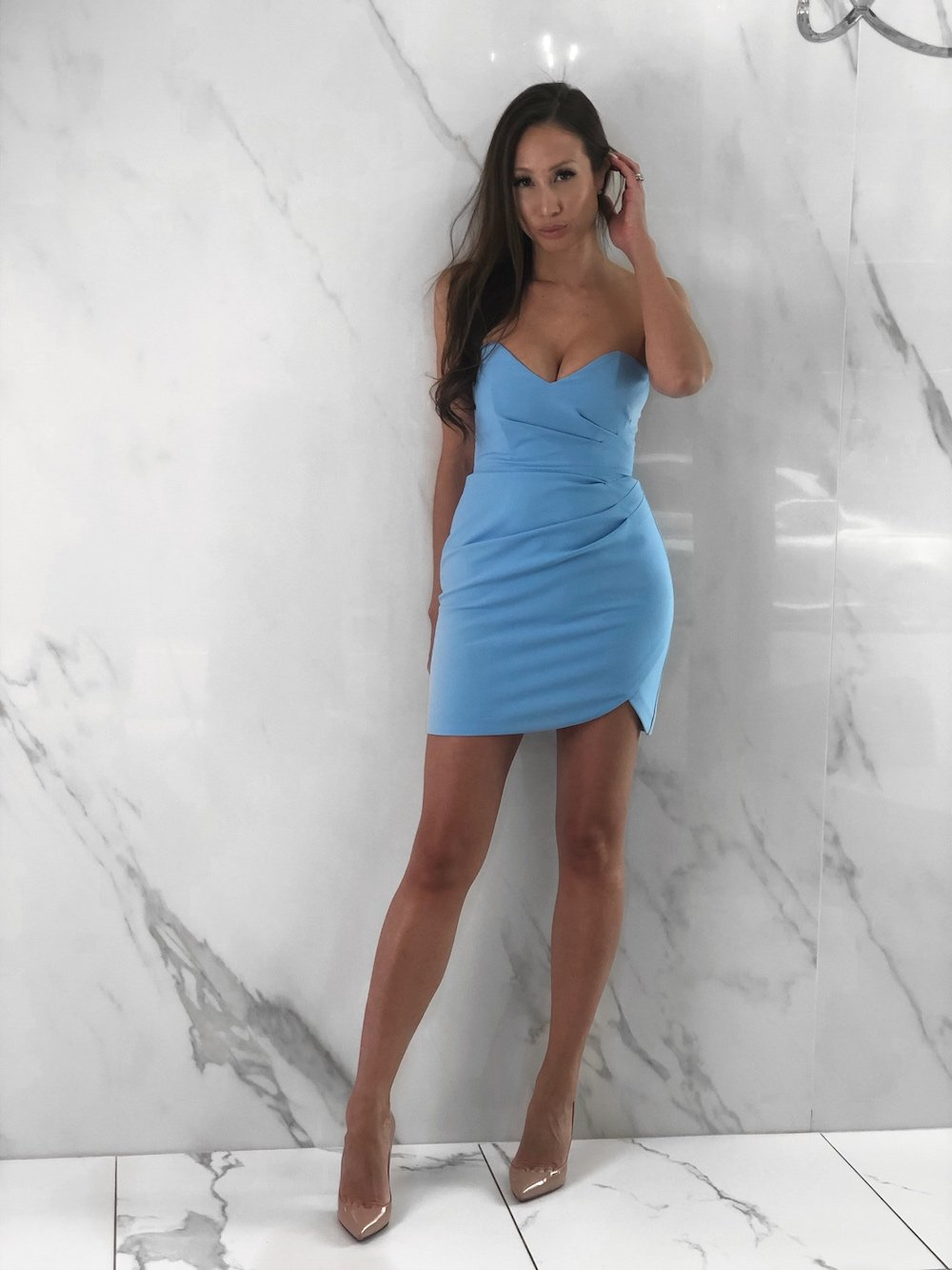 Jax Dress, Women's Sky Blue Dresses