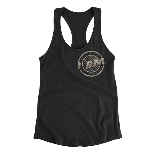 I AM v2 // Women's Racerback Tank (Digi Camo) - Made To Excel Fitness