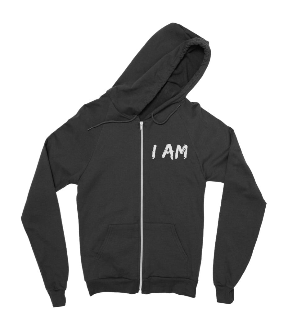 """I Am"" Zip Up Hoodie - Made To Excel Fitness"
