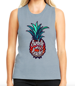 Barbells and Beaches v3 Women's Muscle Tank - Made To Excel Fitness