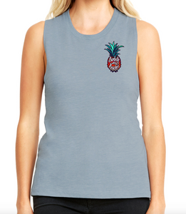 Barbells and Beaches v3 Chest Women's Muscle Tank - Made To Excel Fitness