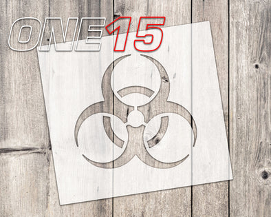 Biohazard mylar stencil | reusable | for wood food t shirt shoes painting airbrushing | food safe | diy crafting