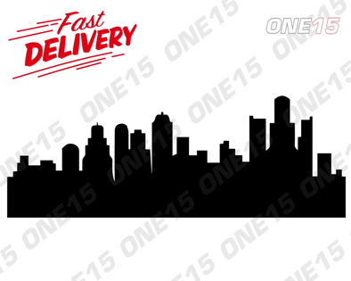 DETROIT CITY SKYLINE VINYL PAINTING STENCIL SIZE PACK *HIGH QUALITY*