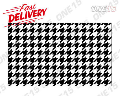 HOUNDSTOOTH PATTERN VINYL PAINTING STENCIL *HIGH QUALITY*