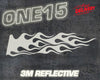 FLAME 3M REFLECTIVE HEAT ACTIVATED TRANSFER FOR LEATHER, FABRIC, WOOD, PLASTIC, GLASS ETC