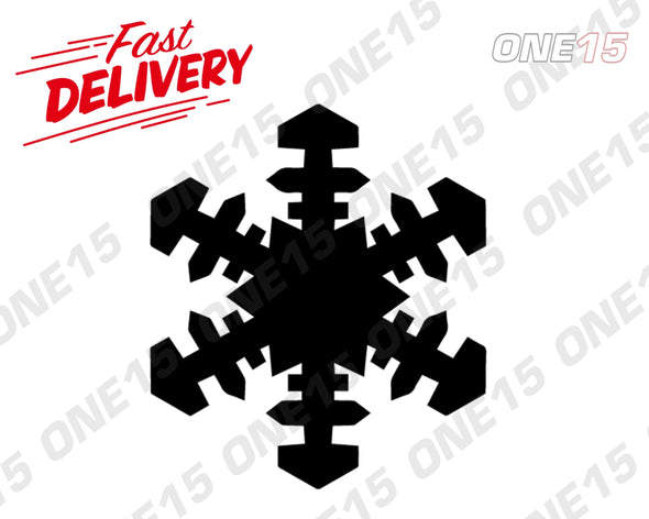 SNOWFLAKE 2 VINYL PAINTING STENCIL SIZE PACK *HIGH QUALITY*