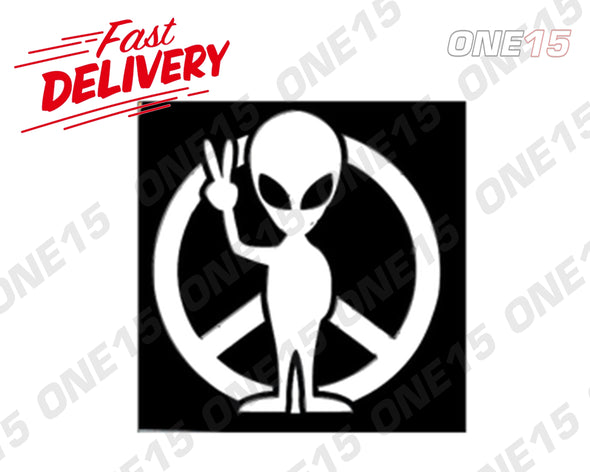 PEACE SIGN ALIEN LOGO VINYL PAINTING STENCIL SIZE PACK *HIGH QUALITY*