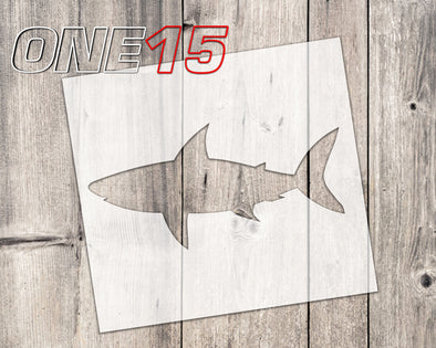 Shark shape mylar stencil | reusable | for wood food t shirt shoes painting airbrushing | food safe | diy crafting