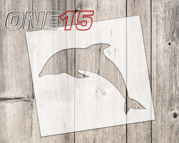 Dolphin mylar stencil | reusable | for wood food t shirt shoes painting airbrushing | food safe | diy crafting
