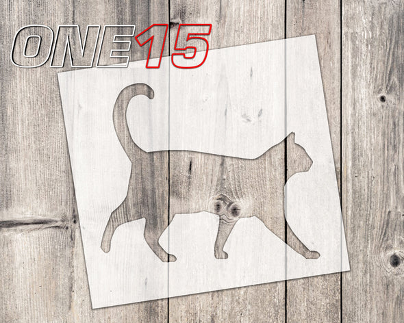Cat 2 mylar stencil | reusable | for wood food t shirt shoes painting airbrushing | food safe | diy crafting