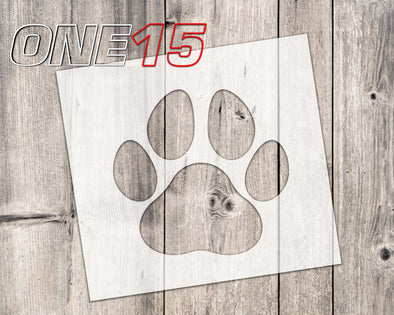 Dog paw mylar stencil | reusable | for wood food t shirt shoes painting airbrushing | food safe | diy crafting