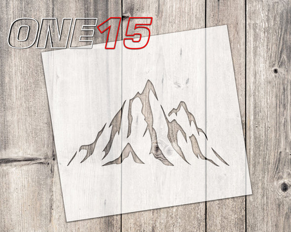 Mountain top mylar stencil | reusable | for wood food t shirt shoes painting airbrushing | food safe | diy crafting