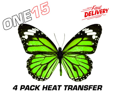 LIME GREEN PREMIUM FULL COLOR HEAT ACTIVATED TRANSFER FOR LEATHER, FABRIC, WOOD, PLASTIC, GLASS ETC