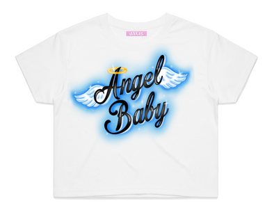 ANGEL BABY CROP TOP (WHITE)