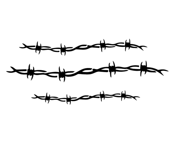 BARBED WIRE DECAL VINYL PAINTING STENCIL PACK *HIGH QUALITY*