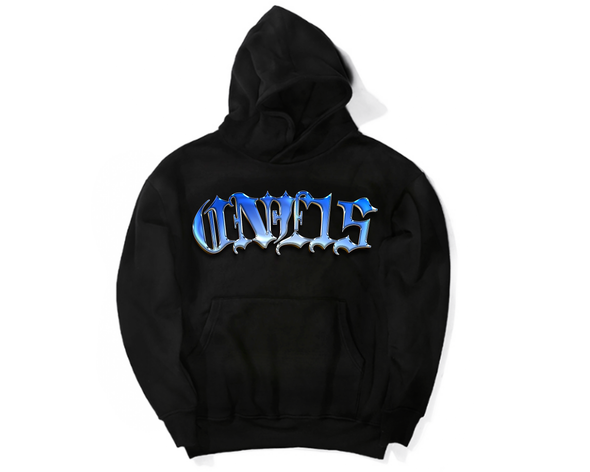 ONE15 BLUE CHROME SPELL OUT HOODIE