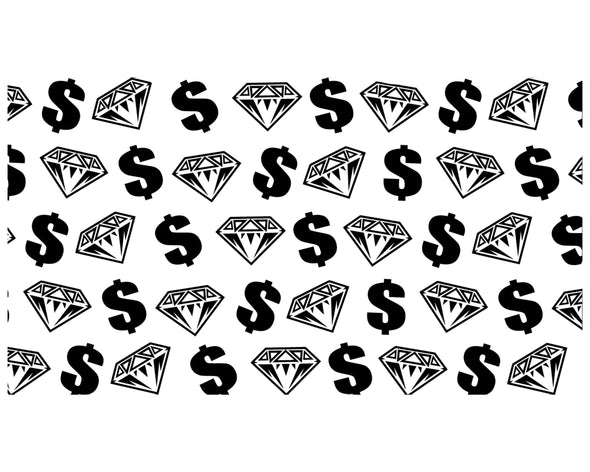 DIAMONDS AND DOLLARS ICE CREAM BBC INSPIRED VINYL PAINTING STENCIL *HIGH QUALITY*