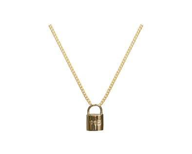 115 GOLD LOCK PENDANT NECKLACE
