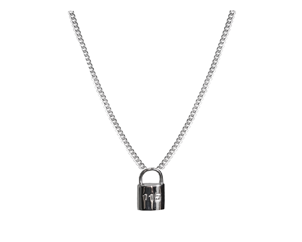 115 SILVER LOCK PENDANT NECKLACE