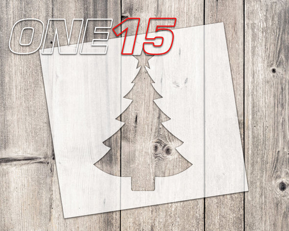 Christmas tree mylar stencil | reusable | for wood food t shirt shoes painting airbrushing | food safe | diy crafting