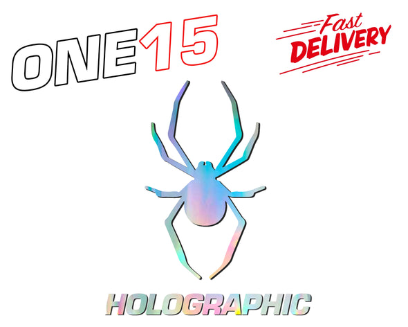 SPIDER HOLOGRAPHIC RAINBOW CHROME BUTTERFLY HEAT ACTIVATED TRANSFER FOR LEATHER, FABRIC, WOOD, PLASTIC, GLASS ETC