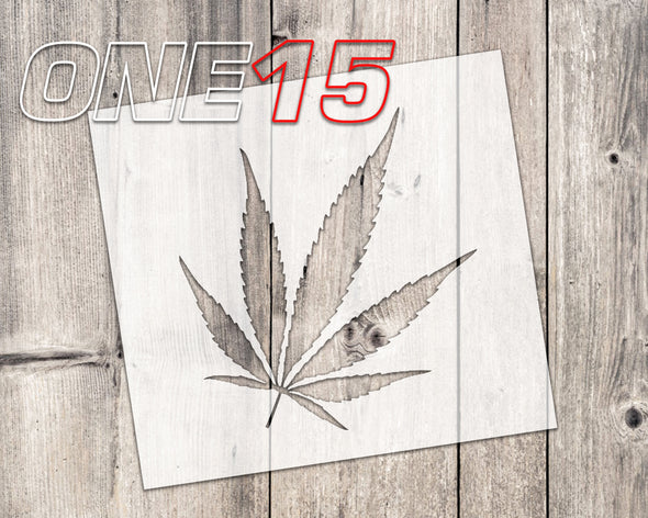 Weed leaf mylar stencil | reusable | for wood food t shirt shoes painting airbrushing | food safe | diy crafting