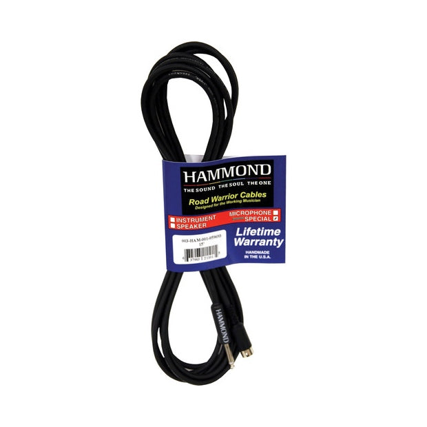 "Hammond 8-Pin & 1/4"" TS Female Cable, 15-Foot"
