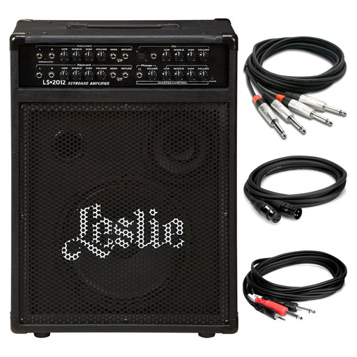 Leslie LS2012 Keyboard Combo Amplifier Cable Bundle