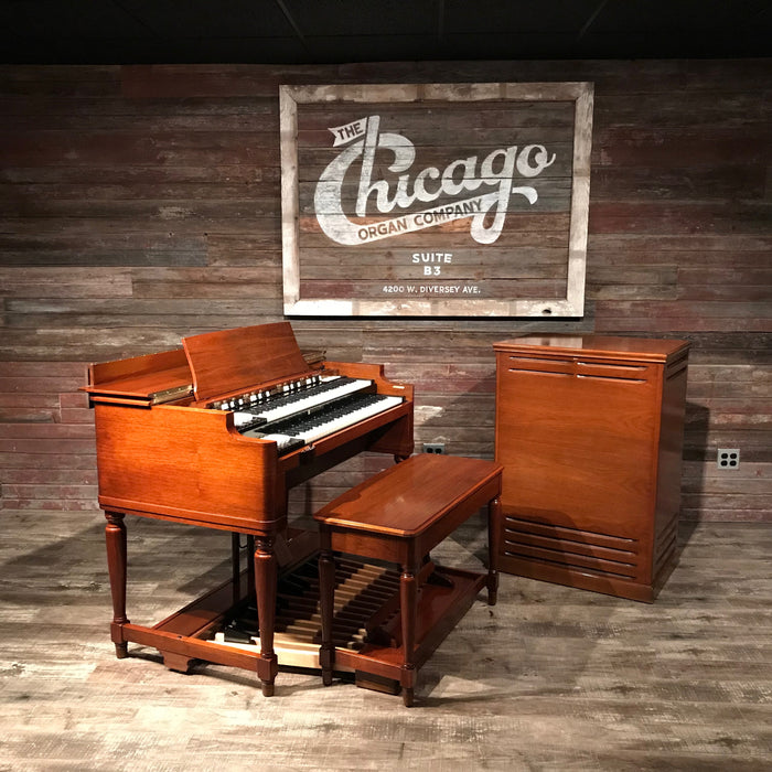Hammond Vintage 1969 B-3 Organ & Leslie 122 Speaker View 2