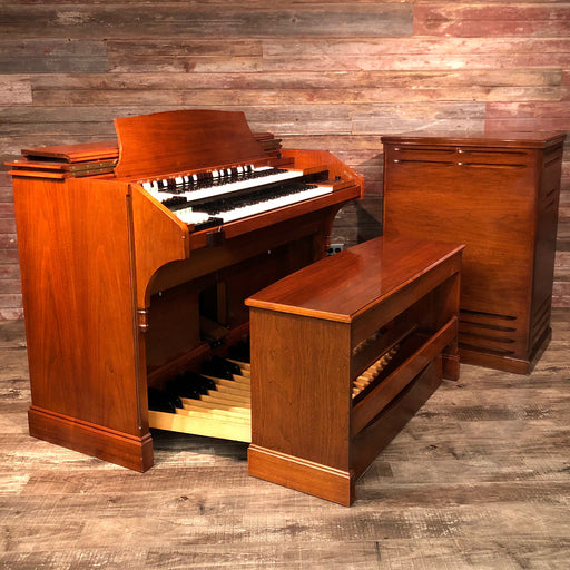 Hammond RT3 Organ (1960) - Red Mahogany and Leslie 122 Speaker - Walnut