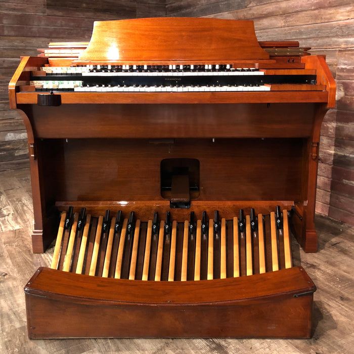 Hammond RT3 Organ (1960) - Red Mahogany and Leslie 122 Speaker - Walnut View 3