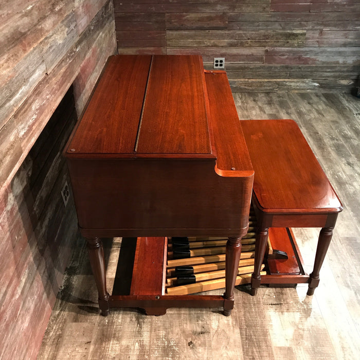 Hammond Vintage (1957) B-3 Organ and Leslie Type 122 Rotary Speaker - Red Mahogany View 5