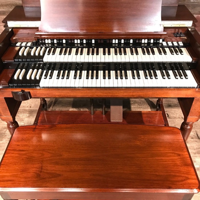 Hammond Vintage (1957) B-3 Organ and Leslie Type 122 Rotary Speaker - Red Mahogany View 8