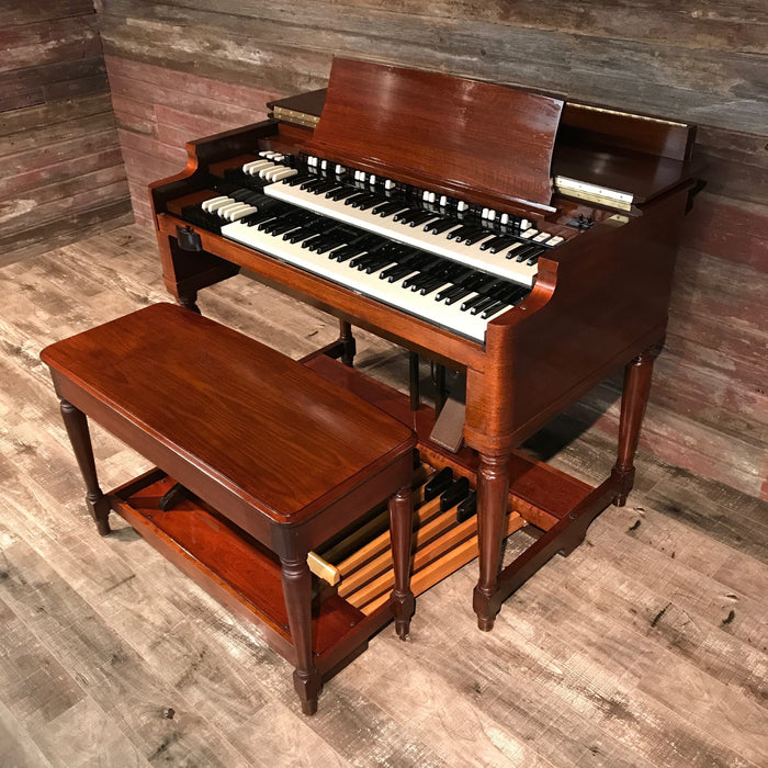 Hammond Vintage (1957) B-3 Organ and Leslie Type 122 Rotary Speaker - Red Mahogany View 9