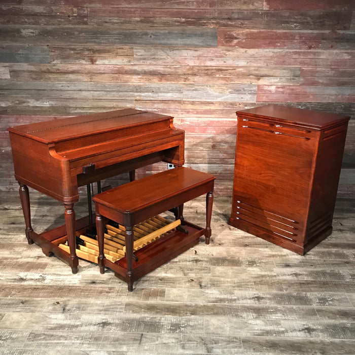 Hammond Vintage (1957) B-3 Organ and Leslie Type 122 Rotary Speaker - Red Mahogany View 22