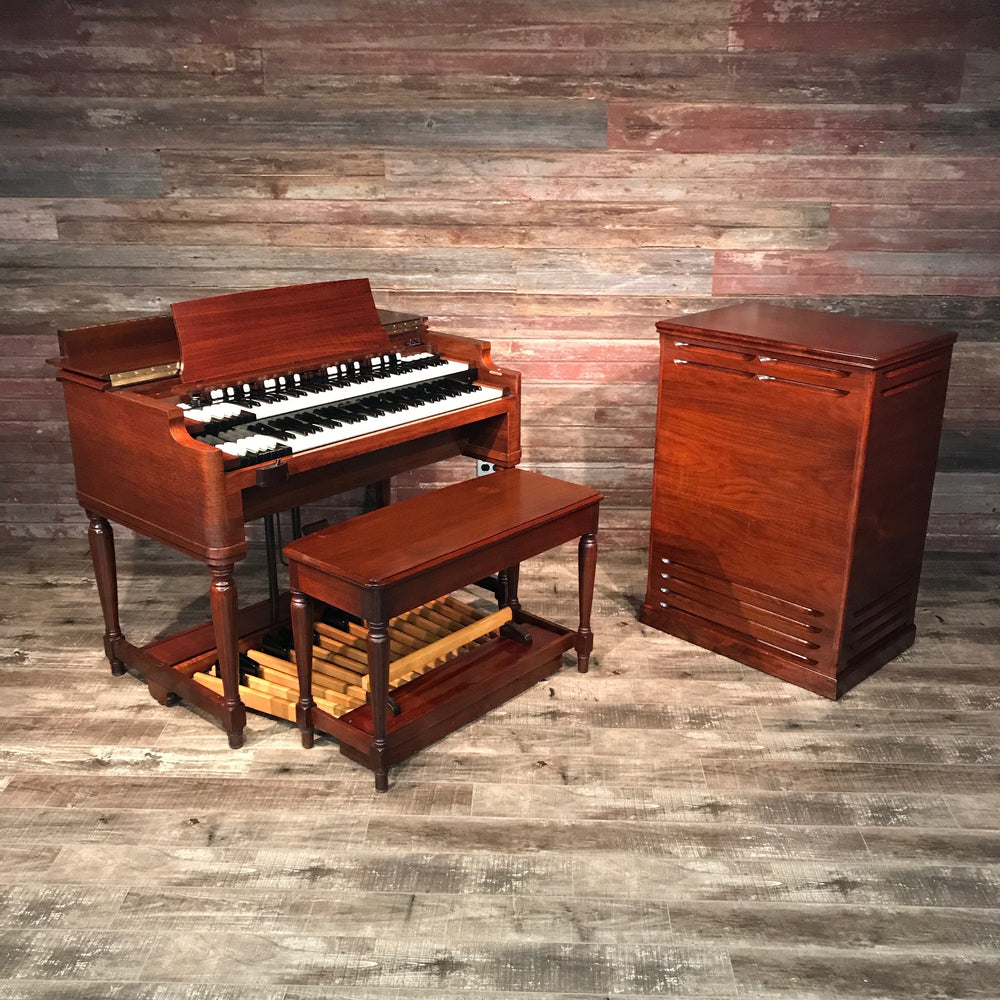 Hammond Vintage (1957) B-3 Organ and Leslie Type 122 Rotary Speaker - Red Mahogany