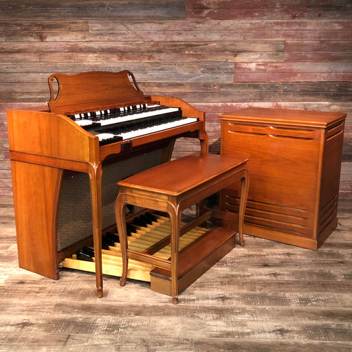 Hammond Vintage (1962) A-102 Organ and Leslie Type 142 Rotary Speaker - Cherry