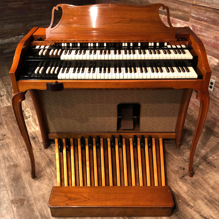 Hammond Vintage (1962) A-102 Organ and Leslie Type 142 Rotary Speaker - Cherry View 2