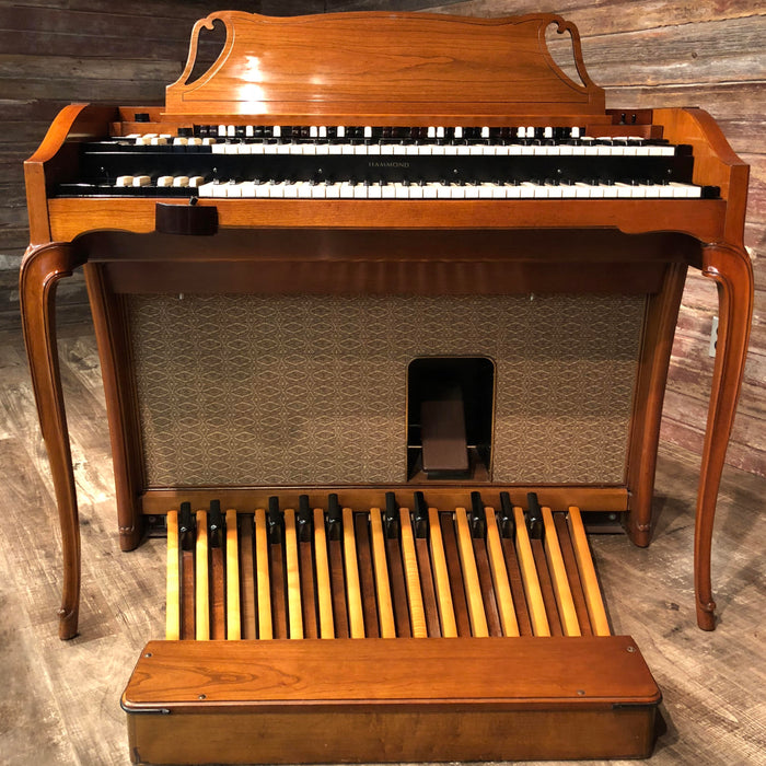 Hammond Vintage (1962) A-102 Organ and Leslie Type 142 Rotary Speaker - Cherry View 3