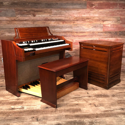 Hammond Vintage (1963) A-100 Organ and Leslie Type 142 Rotary Speaker - Red Mahogany