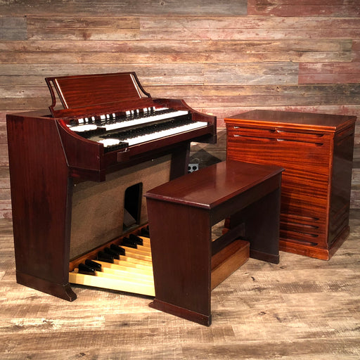 Hammond Vintage (1963) A-100 Organ and Leslie Type 145 Rotary Speaker - Red Mahogany