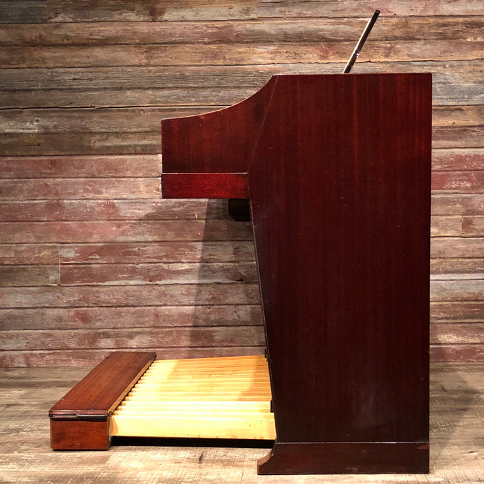 Hammond Vintage (1963) A-100 Organ and Leslie Type 145 Rotary Speaker - Red Mahogany View 5