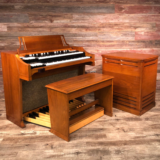 Hammond Vintage (1964) A-100 Organ and Leslie Type 145 Rotary Speaker - Mahogany