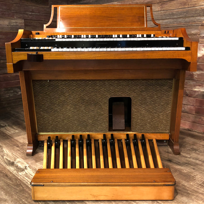 Hammond Vintage (1964) A-100 Organ and Leslie Type 145 Rotary Speaker - Mahogany View 2