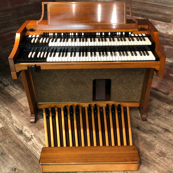 Hammond Vintage (1964) A-100 Organ and Leslie Type 145 Rotary Speaker - Mahogany View 3