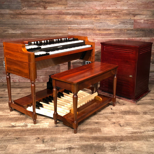 Hammond Vintage A-3 Organ and Leslie Type 3300 Rotary Speaker - Red Walnut
